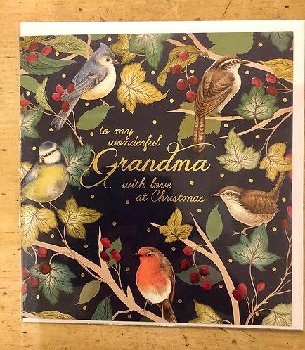 Christmas Card Grandma Robins