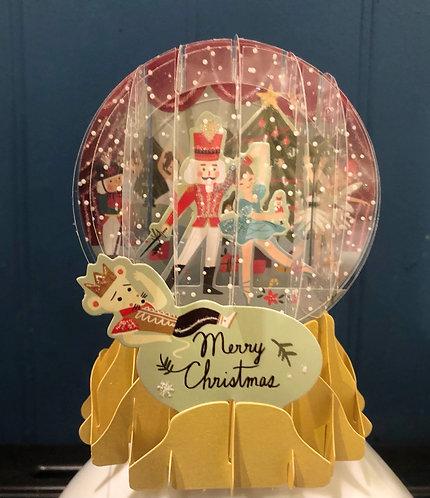 Christmas Card Pop-Up Snowglobe Nutcracker