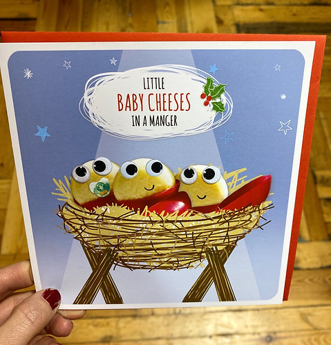 Christmas Card Little Baby Cheeses