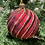 Thumbnail: Red and Gold glass bauble