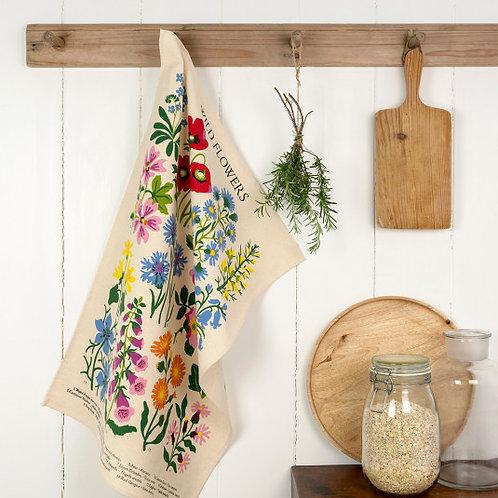 Wild Flower Tea Towel