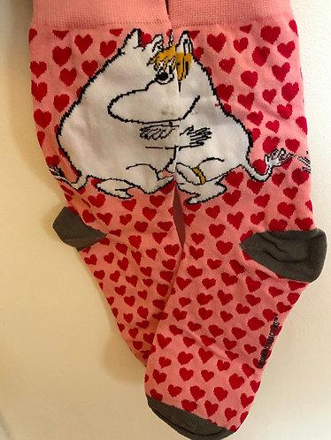 Moomin Love Heart Pink Socks