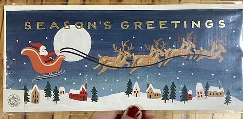 Christmas Card Rifle Paper Panoramic Santa Sleigh