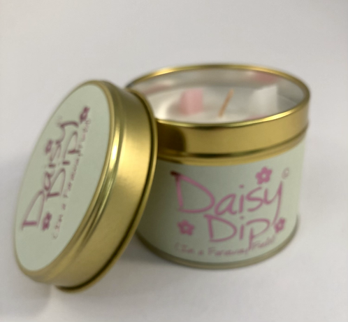 Lily Flame Scented Candle tin, Daisy Dip.