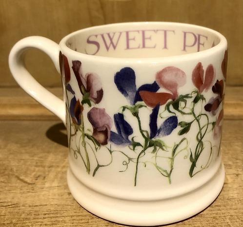 Sweet pea half pint mug