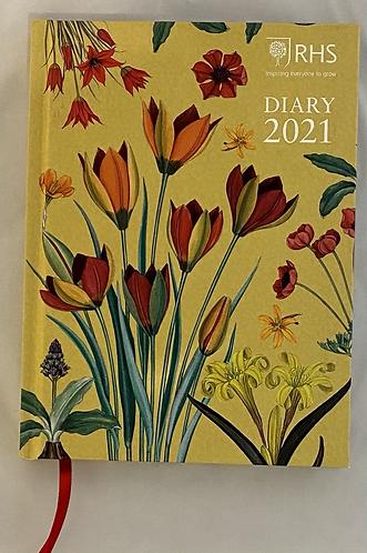 Diary Desk 2021 RHS Hardback