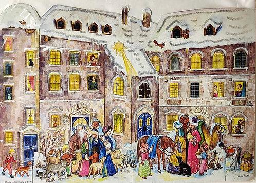 Advent Calendar Christmas Castle Scene 3D