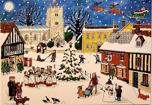 Advent Calendar Village at Christmas