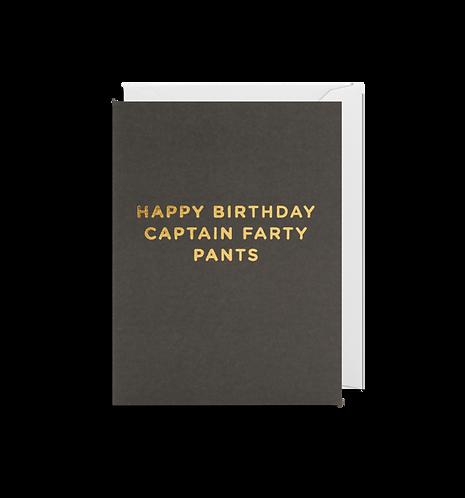 Captain Farty Pants Mini Card