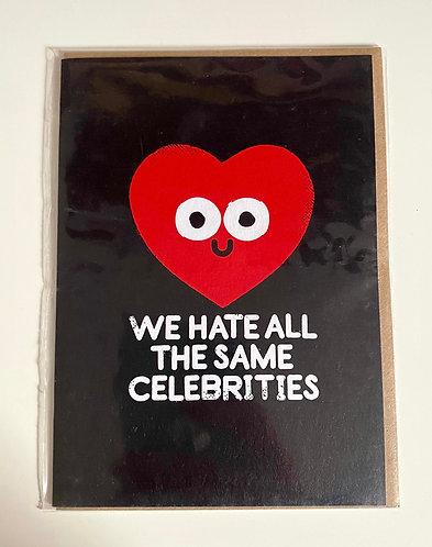 Hate Celebrities