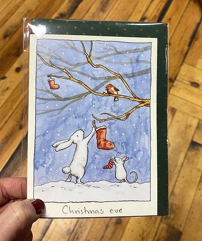 Christmas Card Single Anita Jeram Rabbit Christmas Eve