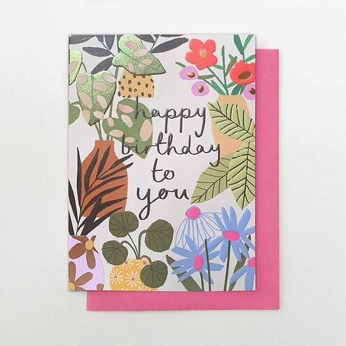 Birthday Plants Card