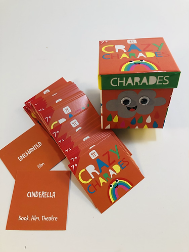 Crazy Charades cards. 7+