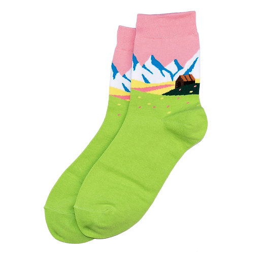 Alpine Scene Socks