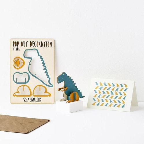 Pop-Out T-Rex Card