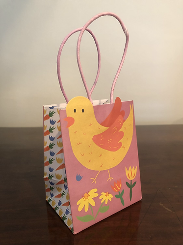Easter Gift Bag Chick (Pink)