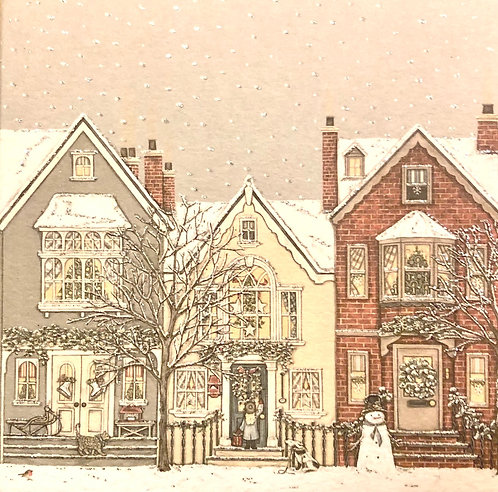 Snowy Street  8 Christmas Cards.