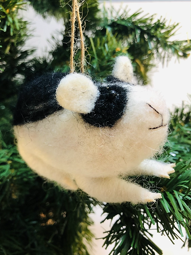 Felt Guinea Pig Tree Decoration