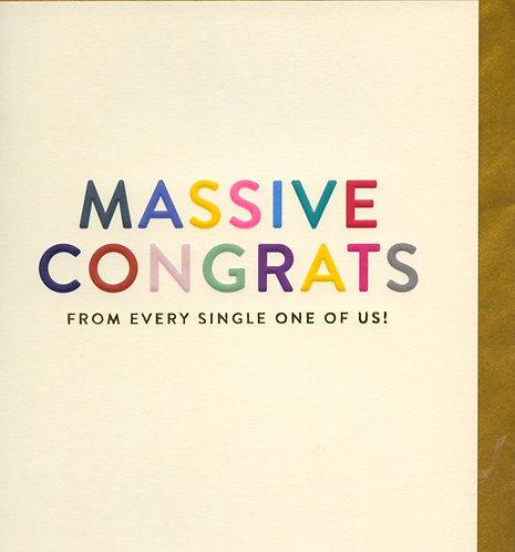 Massive Congrats