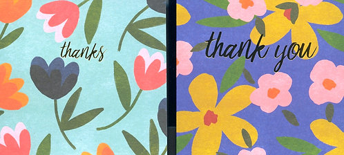 Thank you cards pack of 10
