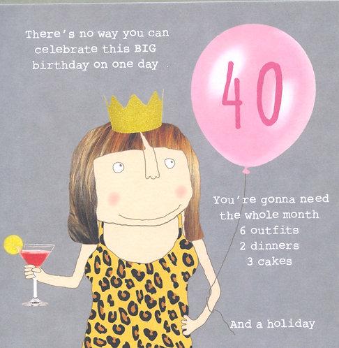 Big Birthday 40th