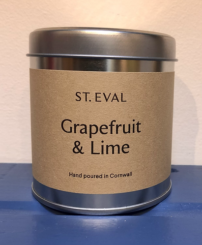 Grapefruit and Lime Scented Candle.