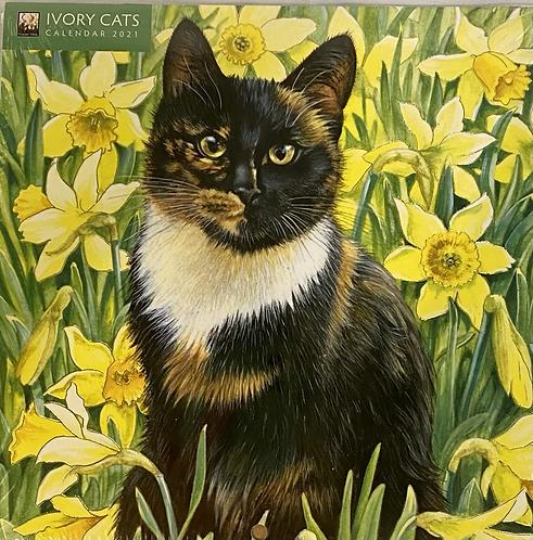 Calendar Mini 2021 Ivory Cats