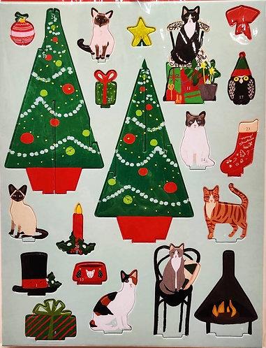 Advent Calendar Pop & Slot Christmas Cats