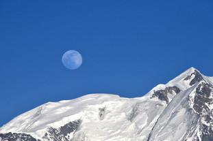 Pleine lune - Mont Blanc