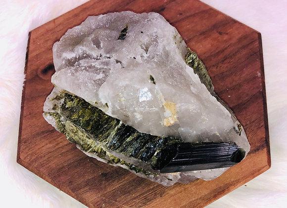 Green Tourmaline Crystal Specimen -  342 grams