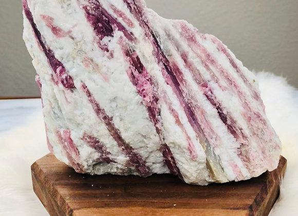 Pink Tourmaline Crystal Specimen -  856grams