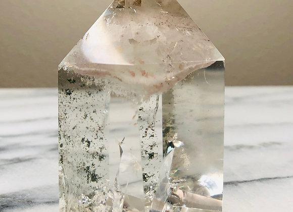 Quartz Crystal Polished Point-  205 grams