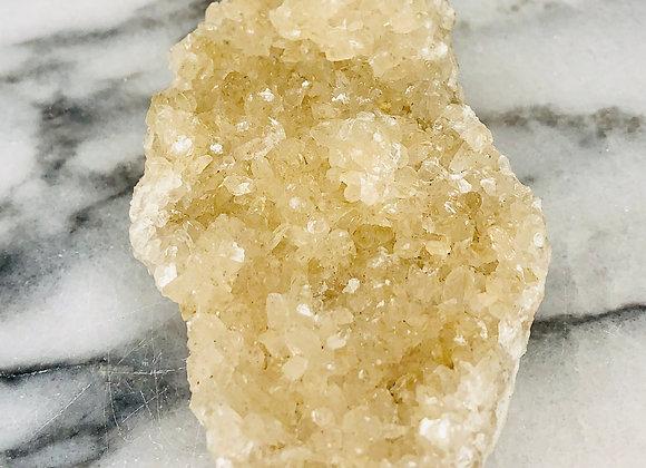 Cream Calcite Crystal Specimen - 288 grams
