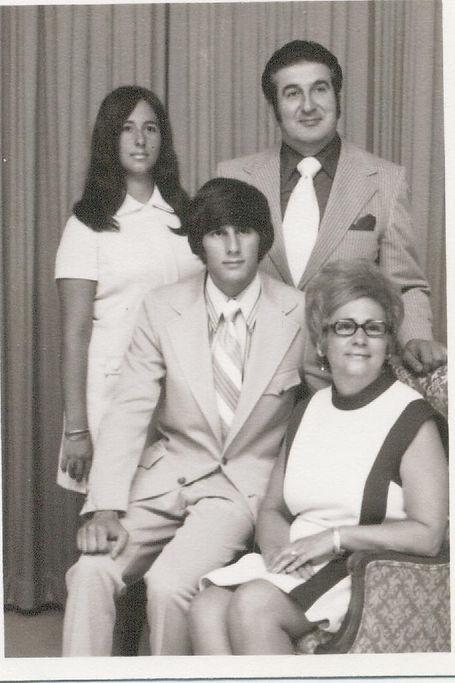 The Deeb Family: 1975 Donna Deeb, Ted Deeb, SK Deeb, Ellen Deeb