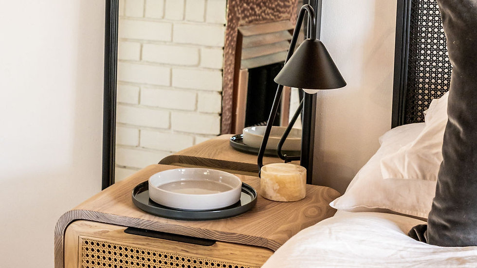Curved Bedside Table