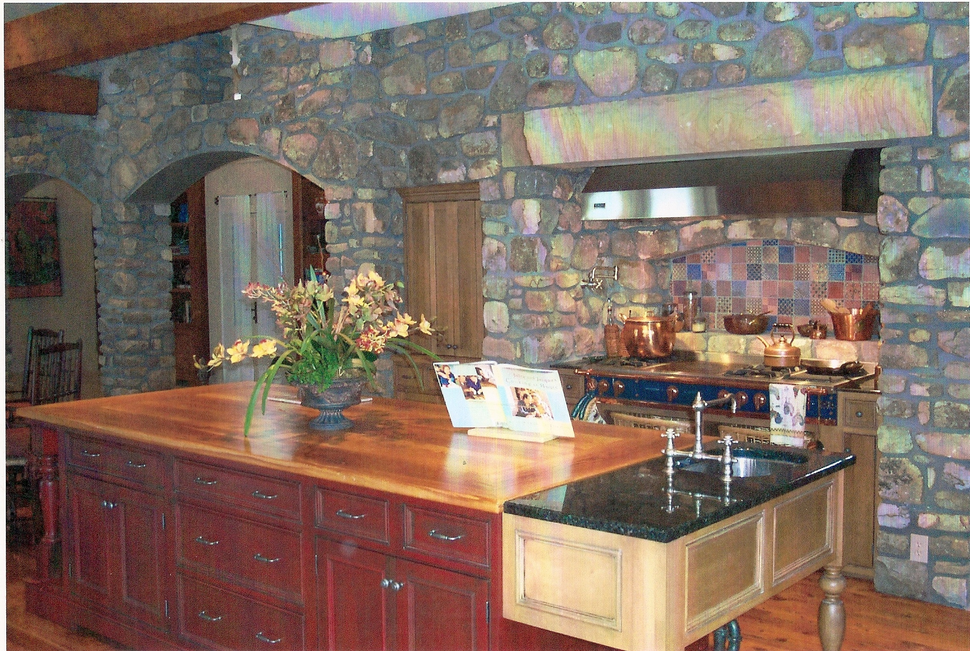 Mountain residence kitchen