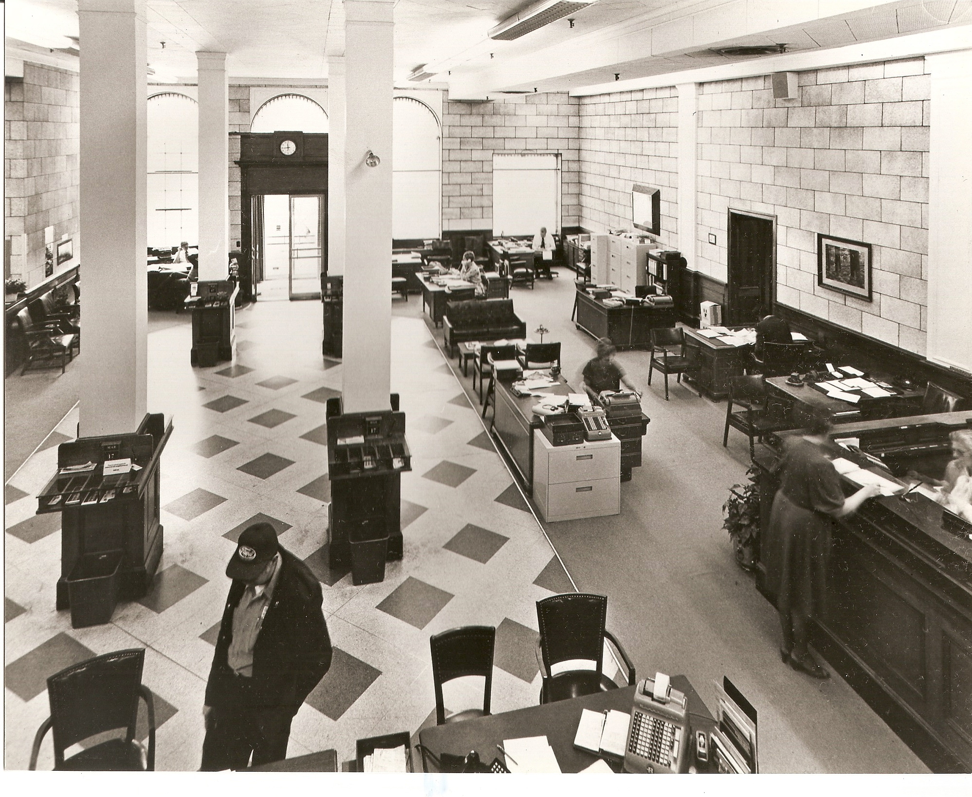 Bank interior view 1 (before)