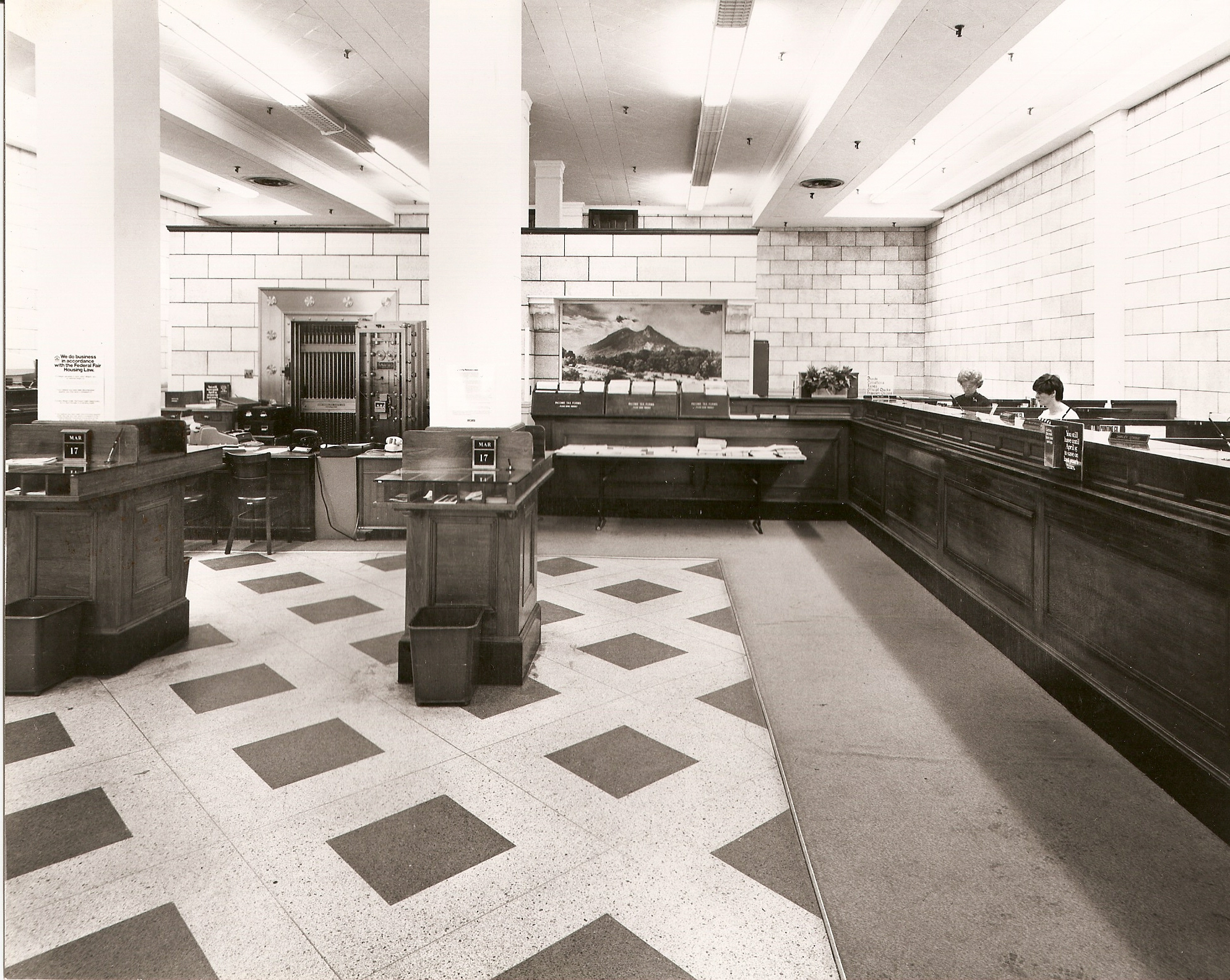 Bank interior view 2 (before)