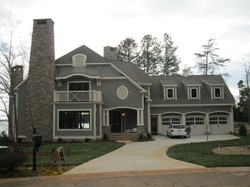 Lake Norman home on approach