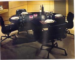 Commercial executive desk tablescape