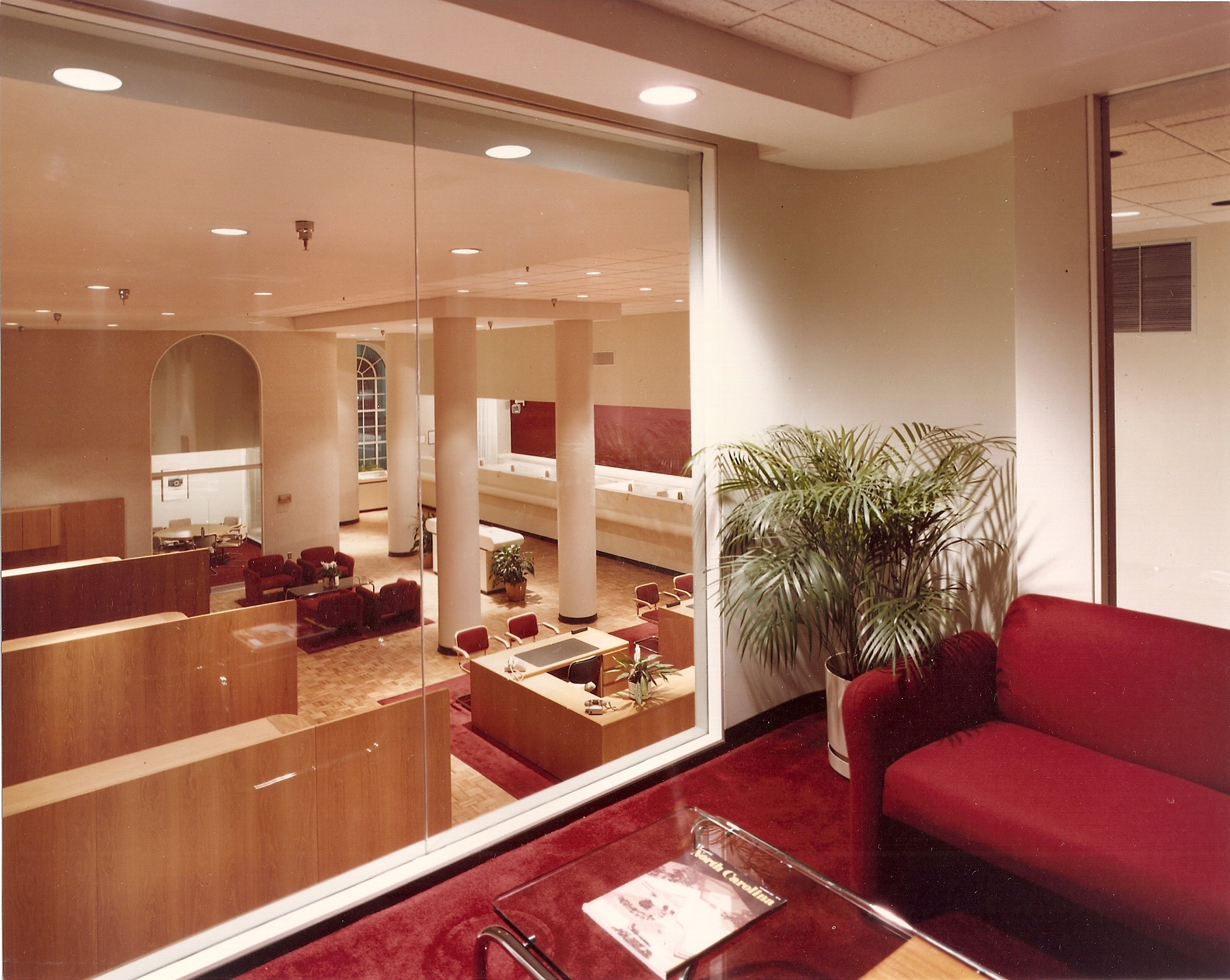 Bank interior overview