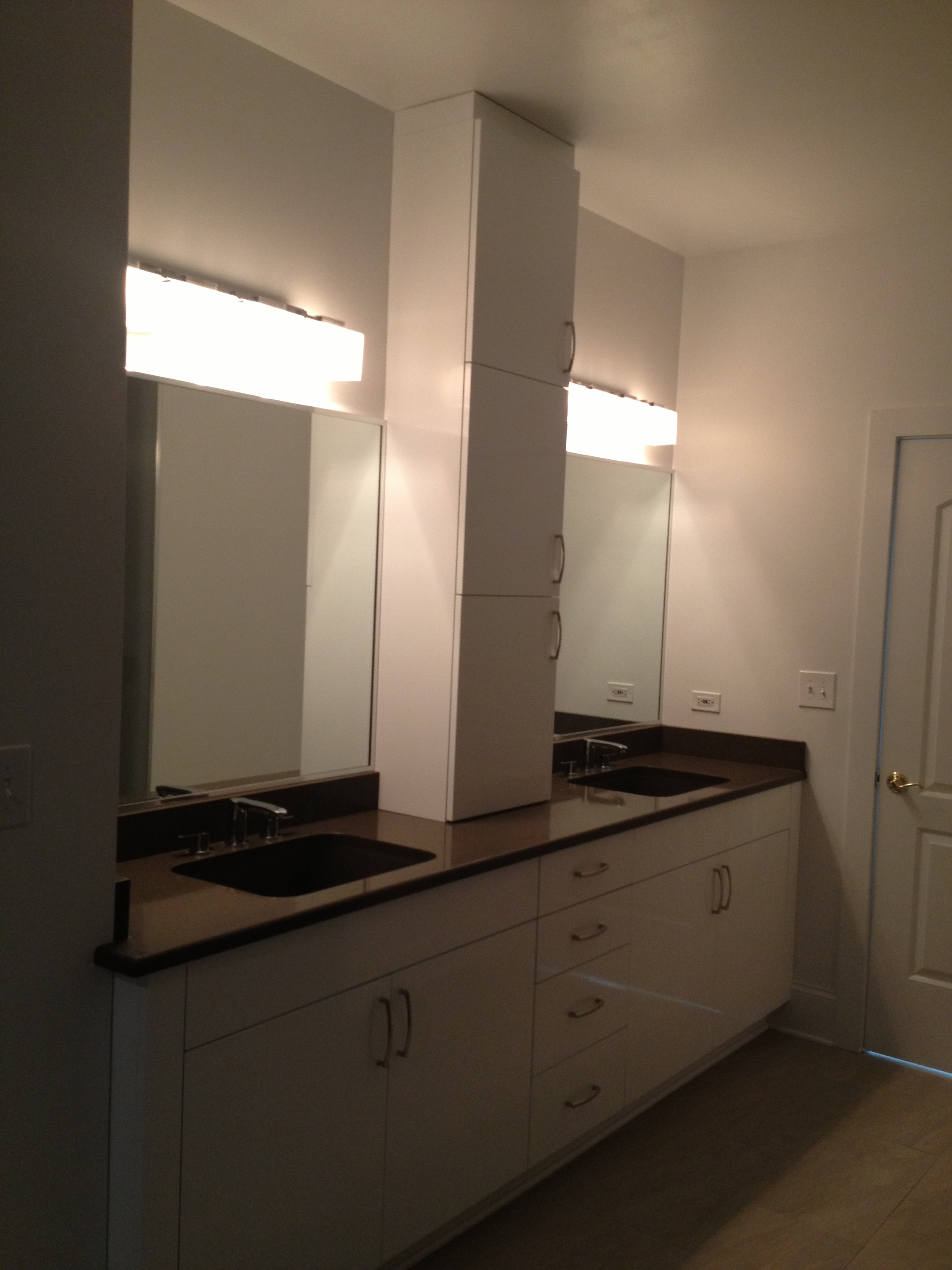 Urban master bath vanity view 2