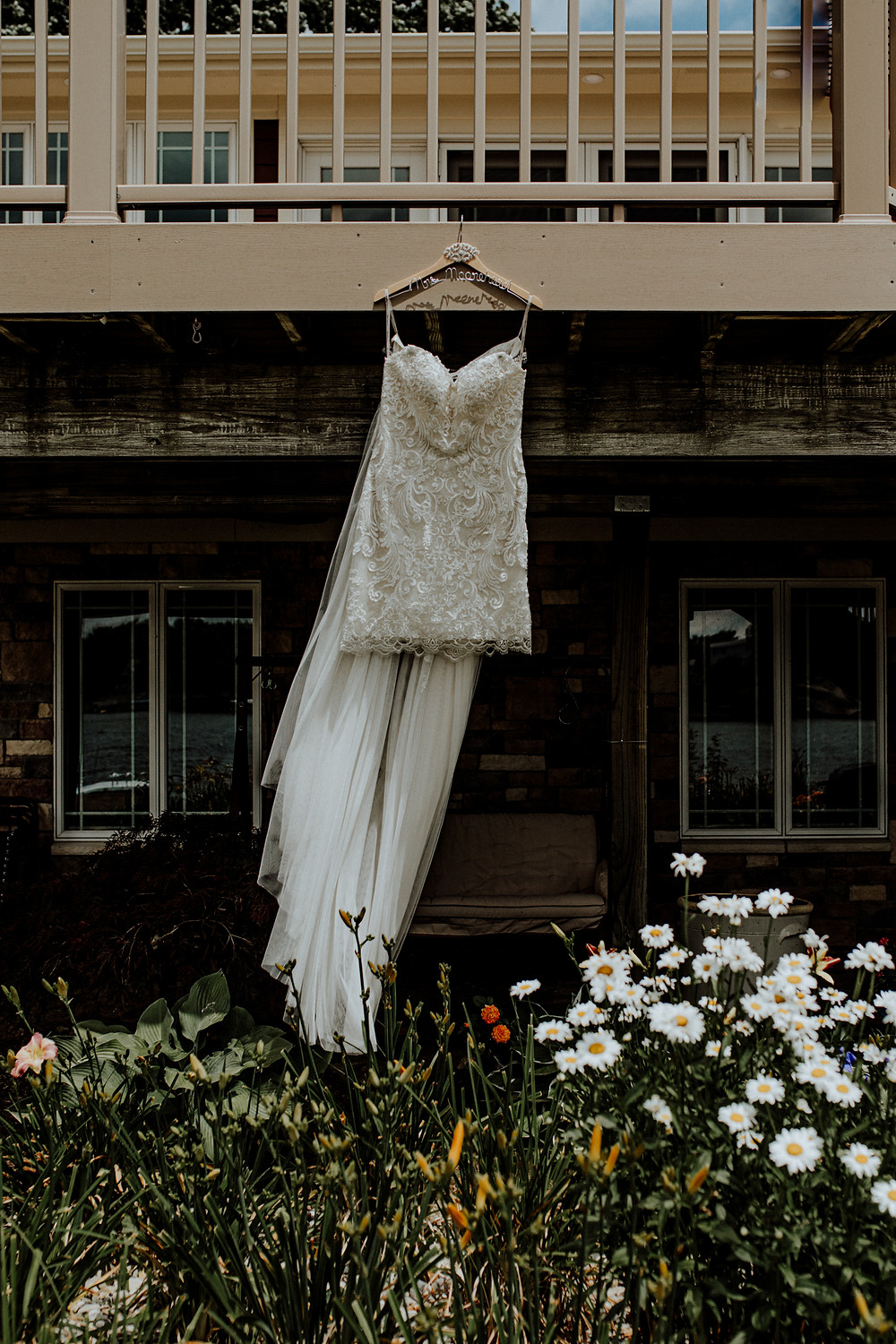 custom wedding dress by house of devaughn in jackson, michigan