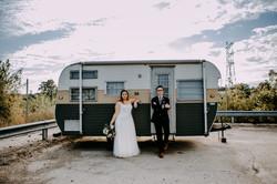 wedding photos with a camper