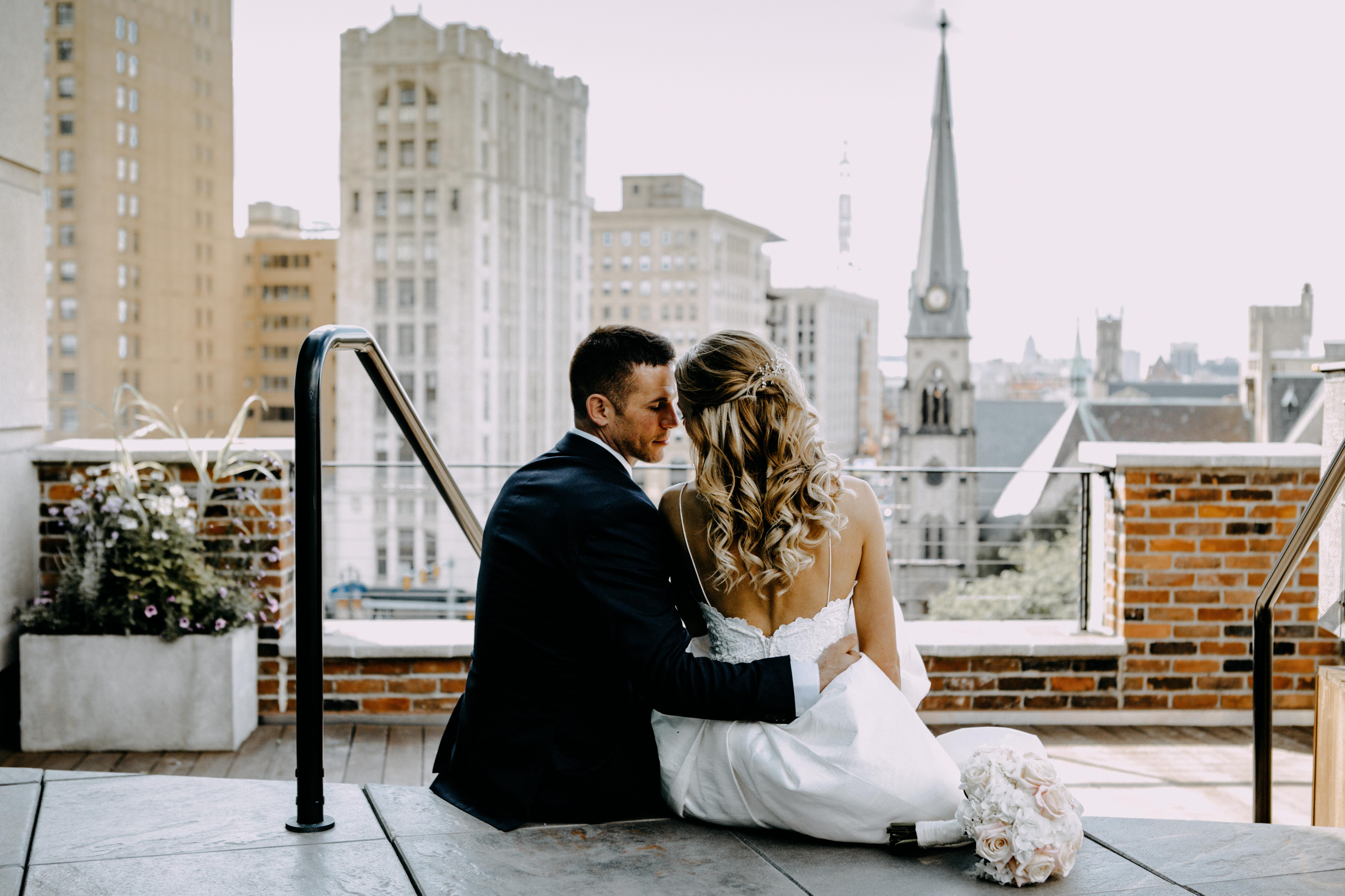 detroit rooftop wedding
