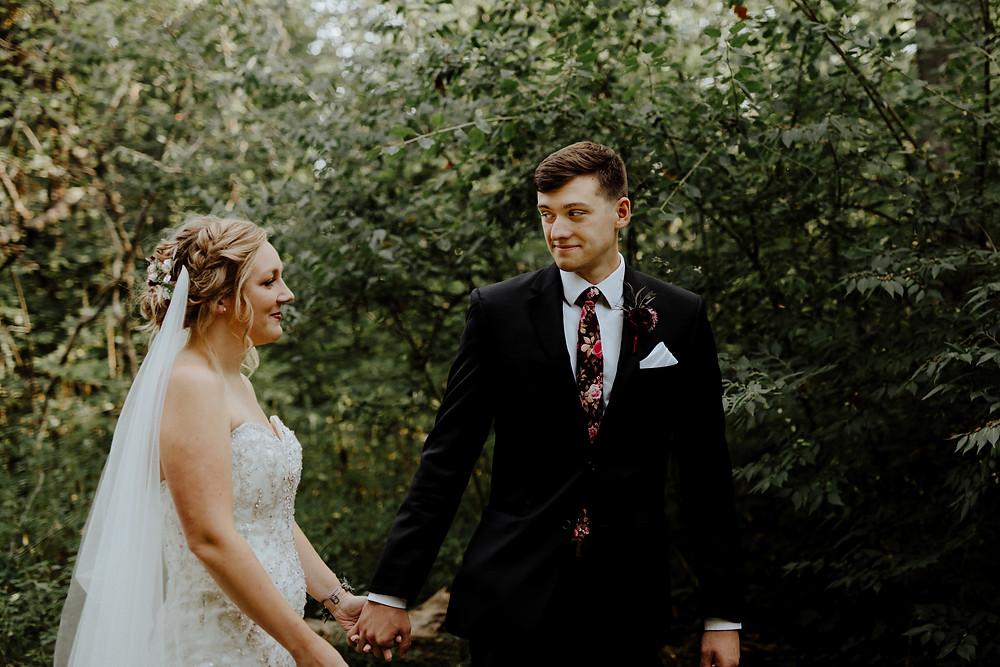francis park rose garden wedding in lansing