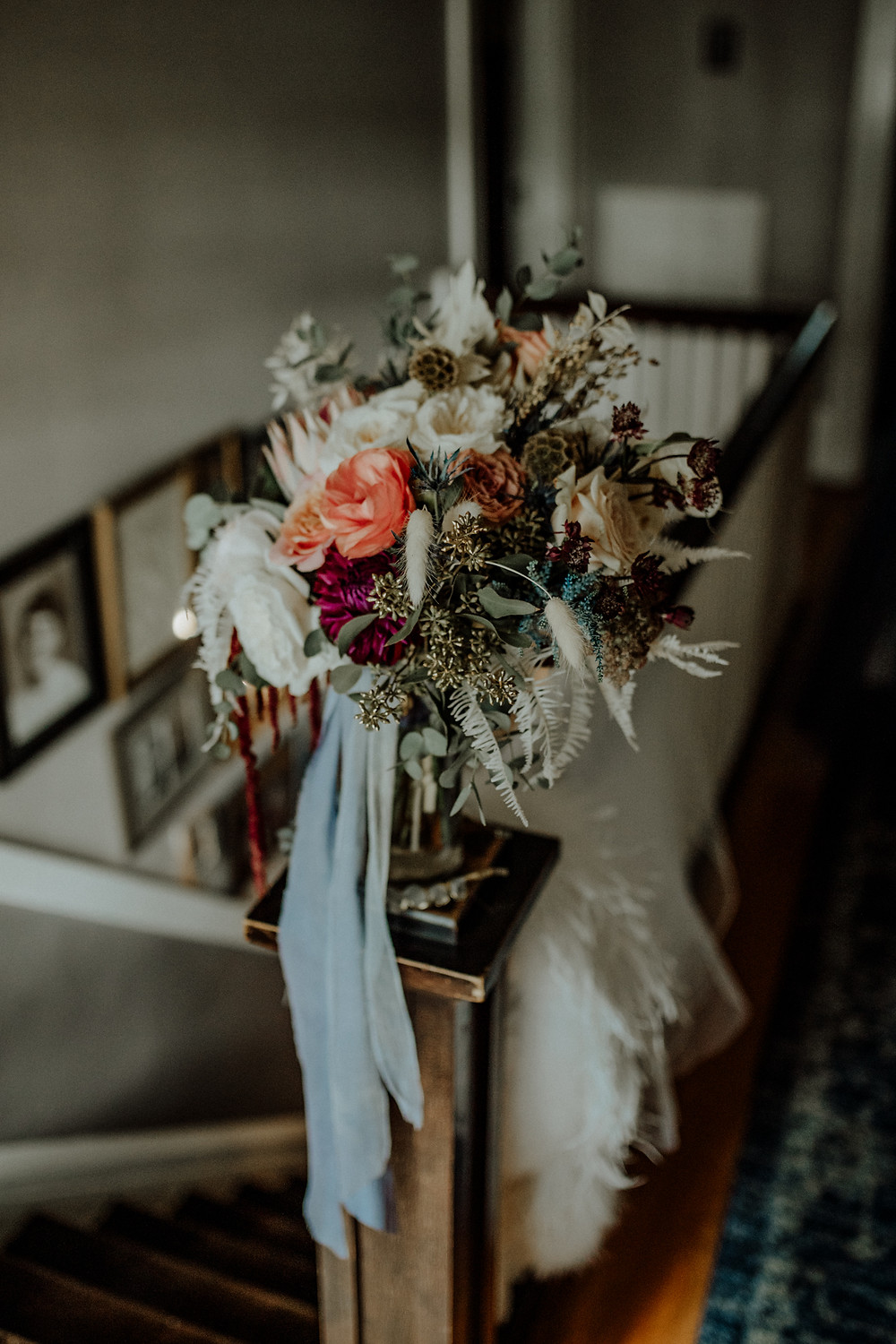 bridal bouquet by sage green events - photo by little blue bird photography. taken in jackson, michigan.