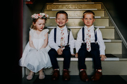 ring bearer outfit with floral tie