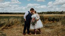 Wedding at the Milestone Barn in Bannister, Michigan