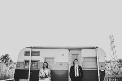 wedding photos with camper